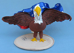 "Annalee 6"" Patriotic Eagle with American Flag - Mint - Prototype - 101603"