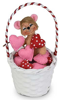 "Annalee 3"" Basket of Love Mouse 2020 - Mint - 110020"