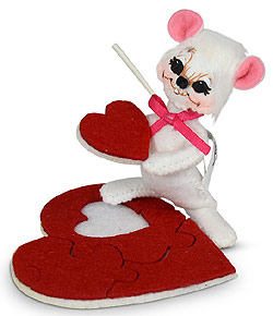 """Annalee 3"""" Piece of My Heart Mouse with Puzzle Piece 2020 - Mint - 110120"""