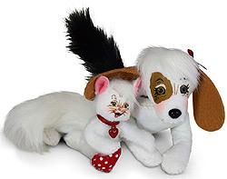 """Annalee 4"""" Valentine Dog & Cat Friends 2020 - Mint - 110220"""