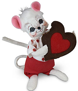 "Annalee 6"" Mouse with Chocolate Heart 2020 - Mint - 110720"
