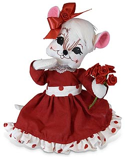 """Annalee 8"""" Valentine Roses Mouse 2020 - Mint - 111020"""