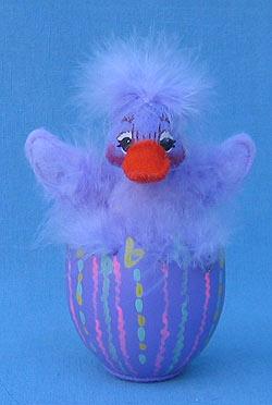"Annalee 4"" Lavender Duck in Egg - Mint - 148906"