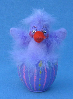 "Annalee 4"" Lavender Duck in Egg - Mint - 148906sq"