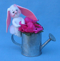 "Annalee 3"" Azalea Bunny with Watering Can - Mint - 149302"