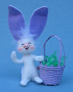 "Annalee 3"" Bunny with Purple Basket - Mint - 149507"