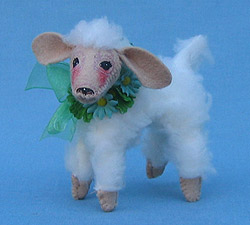 "Annalee 4"" Green Spring Lamb - Mint - 151007"