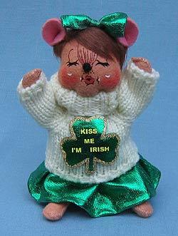 "Annalee 6"" Kiss Me I'm Irish Mouse - Mint - 151209"