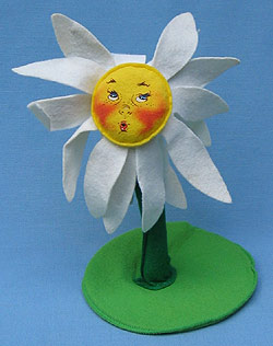 """Annalee 12"""" Flower - Daisy with Face - Mint - 159293"""