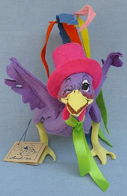 """Annalee 7"""" Spring Boy Rooster Winking - Near Mint / Excellent- 159693w"""