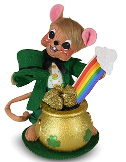 """Annalee 6"""" Pot of Gold Mouse 2020 - Mint - 160420"""