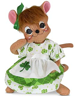 "Annalee 6"" Irish Girl Mouse 2020 - Mint - 160620"