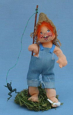 "Annalee 7"" Fishing Boy - Very Good - 162583a"