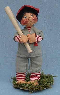 "Annalee 7"" Baseball Player - Very Good - 164085oxa"
