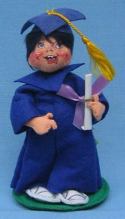 """Annalee 7"""" Graduation Kid in Blue - Mint / Near Mint - 166487"""