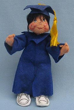 """Annalee 7"""" Graduation Kid in Blue - Mint - 166487adox"""