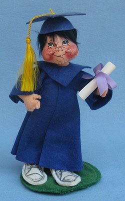 "Annalee 7"" Graduation Kid in Blue - Excellent - 166487oxa"