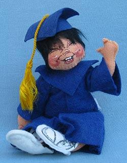 """Annalee 7"""" Graduation Kid in Blue - Mint - 166487xoa"""