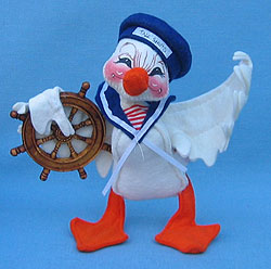 """Annalee 5"""" Tall Ships Sailor Duck - Squinting - Mint - 172495sq"""