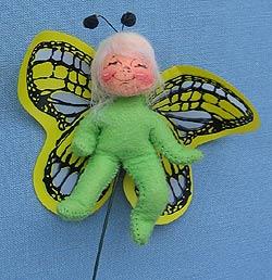 """Annalee 3"""" Butterfly Pick - Mint - 181796xx"""