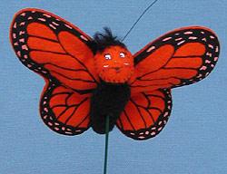 """Annalee 3"""" Orange Butterfly Pick - Mint - 181902"""