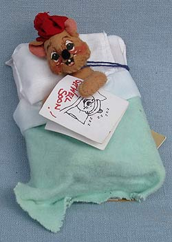"""Annalee 3"""" Get Well Mouse - Excellent - 198697a"""