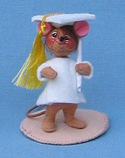 """Annalee 3"""" Graduation Girl Mouse - Mint - 198897ox"""