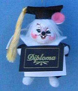 """Annalee 3"""" Graduate Mouse Ornament - Mint - 198904"""