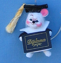 "Annalee 3"" Graduate Mouse Ornament - Mint - 198904ox"