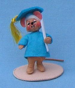"""Annalee 3"""" Graduation Boy Mouse - Mint - 198997"""