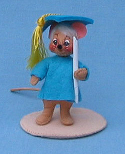 "Annalee 3"" Graduation Boy Mouse - Mint - 198997ox"