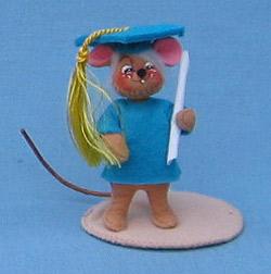 """Annalee 3"""" Graduation Boy Mouse - Mint - 198997sq"""