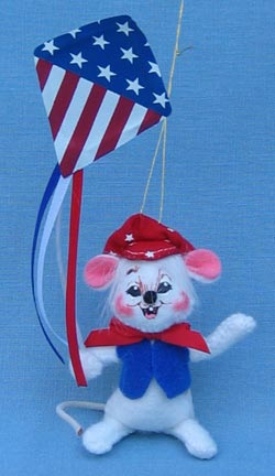 "Annalee 3"" Patriotic Kite Mouse Ornament - Mint - 199703"
