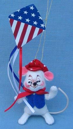 """Annalee 3"""" Patriotic Kite Mouse Ornament - Mint - 199703sqxt"""