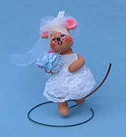 """Annalee 3"""" Bride Mouse - Open Eyes - Mint - 199896"""