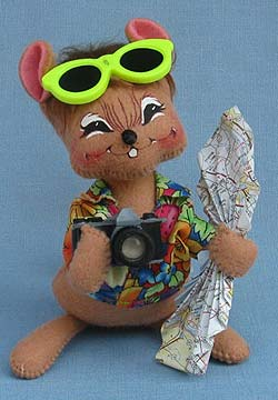 """Annalee 7"""" Vacation Mouse - Mint - 200302sq"""