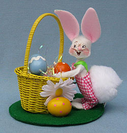 """Annalee 5"""" Easter Basket Bunny - Mint - 200310"""