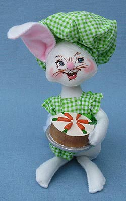 "Annalee 6"" Baking Bunny with Carrot Cake - Mint - 200510"