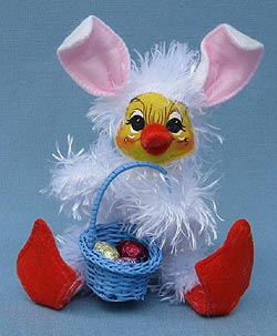"""Annalee 6"""" Duck Dressed As An Easter Bunny - Mint - 200710"""