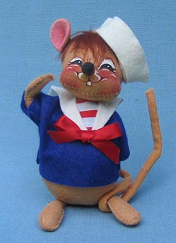 "Annalee 7"" Sailor Mouse - Squinting - Mint - 200790sq"