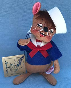 """Annalee 7"""" Sailor Mouse - Closed Eyes - Mint - 200790xo"""