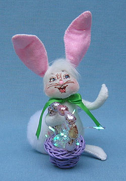 """Annalee 5"""" Easter Basket Bunny - Mint - 200809"""