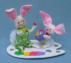 "Annalee 5"" Egg Painting Bunny Pals - Mint - 200909"