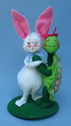 "Annalee 5"" Tortoise Turtle & Hare - Mint - 201311"