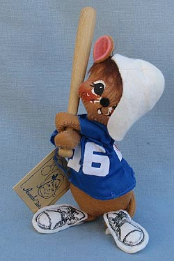 """Annalee 7"""" Baseball Mouse - Mint - 202293oxt"""