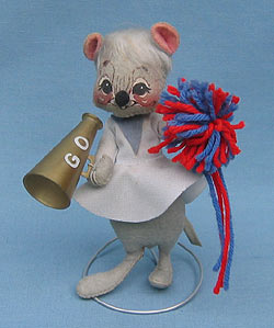 """Annalee 7"""" Cheerleader Mouse - Very Good - 202582a"""