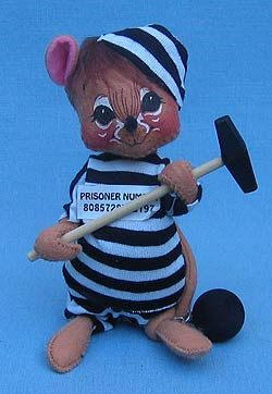 "Annalee 7"" Prisioner Jail House Mouse - Mint / Near Mint - 202994"