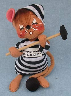 "Annalee 7"" Prisioner Jail House Mouse - Mint - 202994xot"