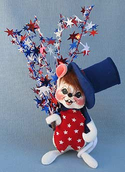 """Annalee 7"""" Star Spangled Mouse - Mint - 203197"""