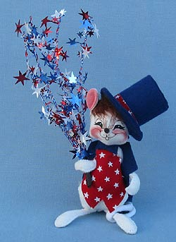 "Annalee 7"" Star Spangled Mouse - Excellent - 203197sqxta"